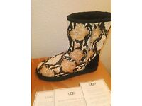Ugg Brand New Classic Short reptile calf hair boots UK 5