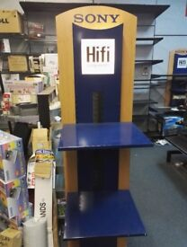 Sony Branded Official Display Stands with two metal shelves each-Freestanding Fittings and fixtures