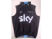 Team sky Froome Wiggins tour de france windproof cycling gilet sleeveless jacket vest XL BNWT
