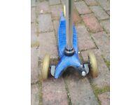 Mini micro scooter blue