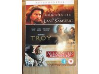 BATTLEFIELD Epic Films Collection-The Last Samurai/ Troy / Alexander Director's
