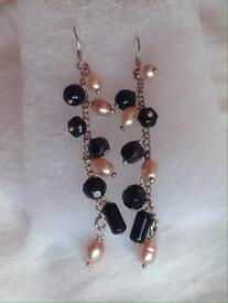 Silver drop earrings new