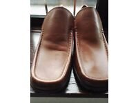 Todd Barness Men Tan leather shoes, brand new size 8 (42)