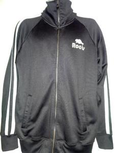 NEW ROOTS XL 46 48 ATHLETIC JACKET BLACK NEW DEADSTOCK