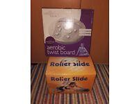 ROLLER SLIDE & AEROBIC TWIST BOARD