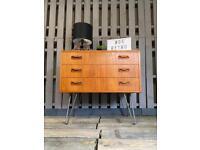 G plan fresco retro chest of teak drawers small sideboard
