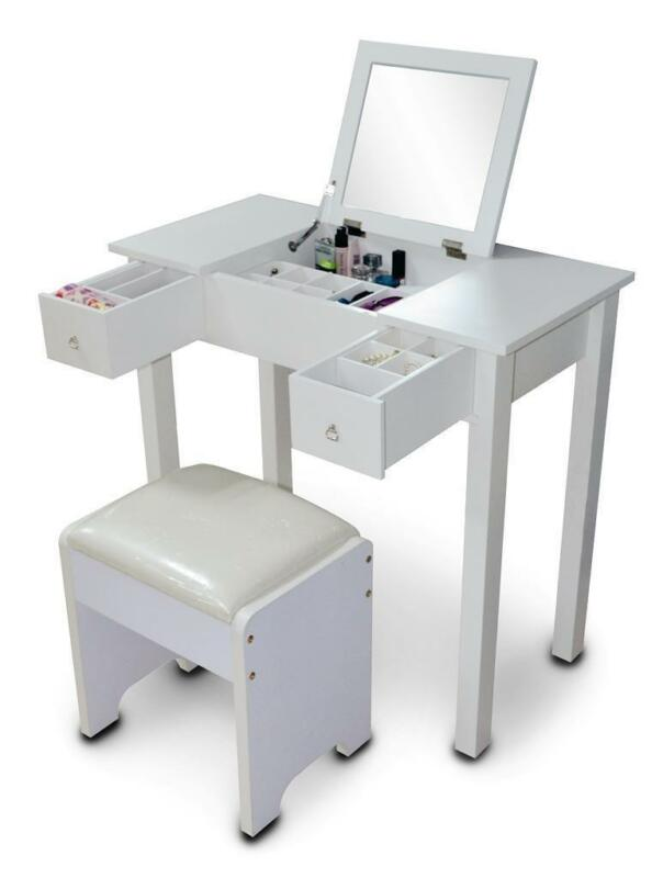 white dressing table ebay. Black Bedroom Furniture Sets. Home Design Ideas