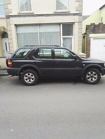 Vauxhall frontera,dual fuel,petrol and gas, m