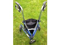 Three wheel mobility walker