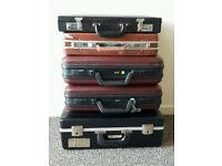 Suitcases Joblot of 5 vintage and retro briefcase luggage shop display props