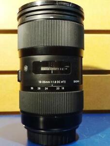 Objectif pour appareil photo CANON SIGMA 18-35MM P030787