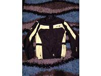 Merlin motorbike motorcycle jacket black and hi vis colour size L bargain!