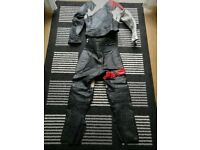 Ladies 2 piece motorcycle leather jacket and trouser