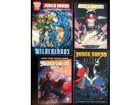 4 Assorted 'Judge Dredd' Graphic Novels