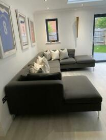 MADE large grey corner sofa excellent condition