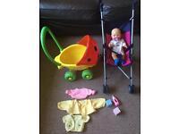 Baby girls prams/pushchair