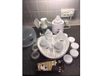Tommee Tippee Bottles Microwave Steriliser Manual Pump Bottle Warmer Set