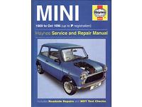 HAYNES MINI SERVICE & REPAIR MANUAL 1969 - 1996