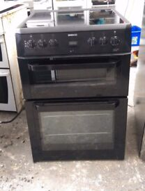 6 MONTHS WARRANTY AA ENERGY RATED Beko 60cm, double oven electric cooker FREE DELIVERY