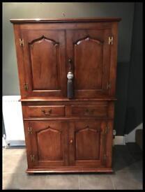 Beautiful Quality Solid Walnut Cupboard/Cabinet