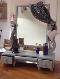 Gorgeous Victorian swivel mirror .