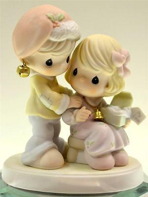Precious Moments COUPLE OPENING GIFT BELL NECKLACE 610011 NIB