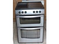 STAINLESS STEEL New World 60cm, double oven electric cooker WARRANTY GIVEN