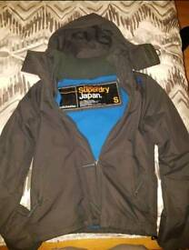 **Flash Sale** Superdry Jacket Grey/Blue Size Small