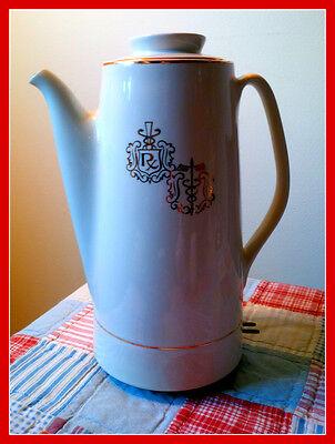 Hall China Coffee Percolator  Pharmacy Premium 1960S  Caduceus Symbol   Rx Symb