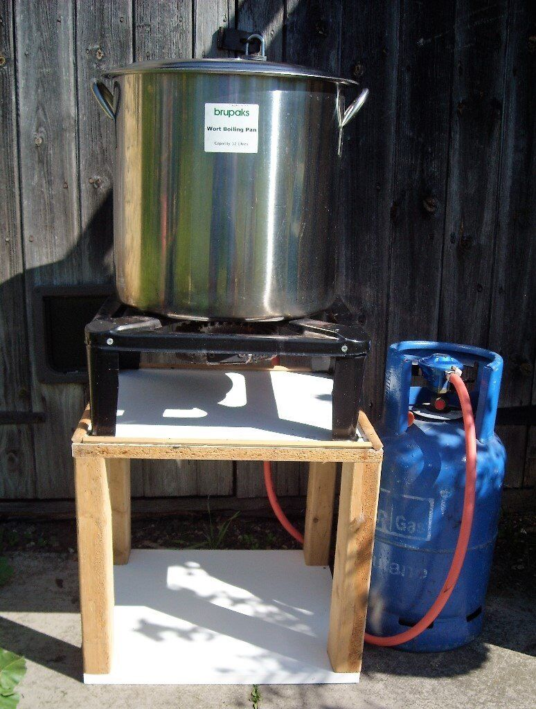complete setup for biab boil in a bag all grain brewing in