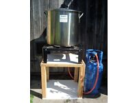 Complete setup for BIAB (boil in a bag) all grain brewing.