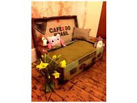 Dog Bed - vintage suitcase style