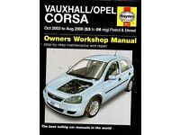 VAUXHALL /OPEL CORSA HAYNES OWNERS WORKSHOP MANUAL