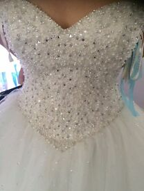 Wedding Dress Brand New With Tags, Mori Lee size 14, ordered from Cardiff Bridal