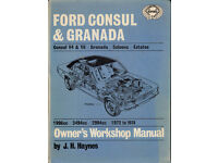 HAYNES CONSUL & GRANADA WORKSHOP MANUAL 1972 - 1974 V4 & V6 MODELS