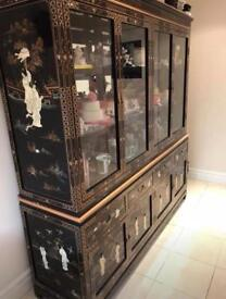 "72"" Mother Of Pearl Buffet And Display Cabinet (Chinese/Oriental/Asian)"