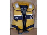Child's Spiral 100N lifejacket, length to neck 40cm, width across back 25cm