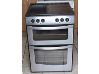 6 MONTHS WARRANTY Stainlerss Steel New World 60cm, double oven electric cooker FREE DELIVERY