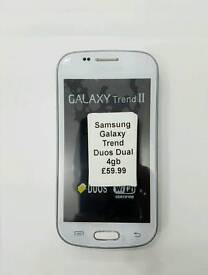 Uk Stock Orignal Samsung Galaxy S Duos(Dual Sim)S7562-4GB-White,Black(Unlocked)Brand New