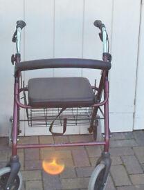 Nearly new 4 wheel walking aid