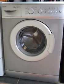 Silver Beko 1400 spin 6kg Washing Machine, 6 Month Cover