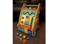 Wooden activity walker