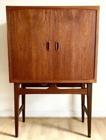 Vintage Retro Mid-century Danish Teak 1960s Drinks Cabinet by Torbjorn Afdal excellent condition