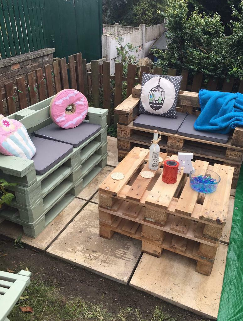 Pallet Garden Outdoor Furniture Sofas Like Rattan Coffee Table In