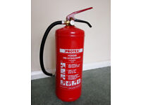 Protex 6kg Powder Fire Extinguisher, CE stamped. About 8-10 Years Old, but Never Used