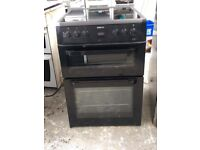 6 MONTHS WARRANTY Black Beko AA energy rated, 60cm, double oven electric cooker FREE DELIVERY