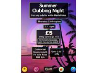 Clubbing night for adults with disabilities!