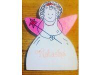 Fairy*NATASHA*Glitter Personalised Name Plate(girls nursery or bedroom door)👼💖