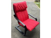 Ikea Poang armchair black and red