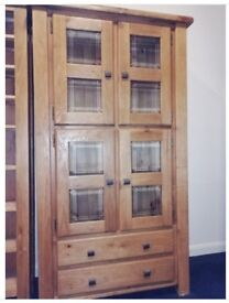 Brand New Solid Oak display cabinet, unit, cupboard RRP £799